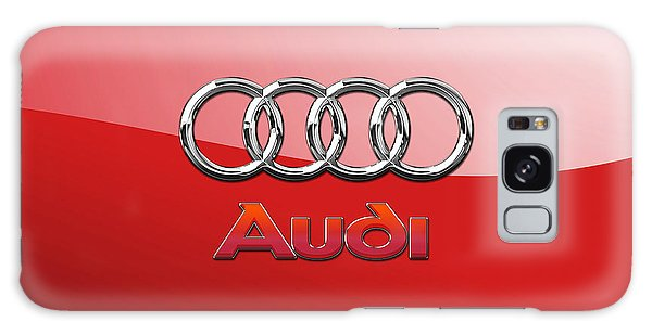 Automotive Galaxy Case - Audi - 3d Badge On Red by Serge Averbukh