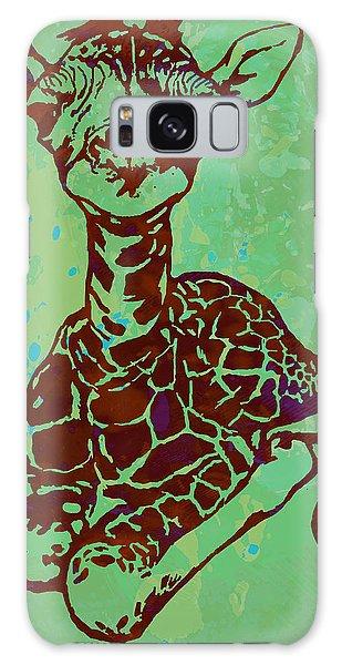 Baby Giraffe - Pop Modern Etching Art Poster Galaxy S8 Case