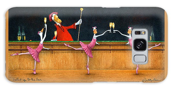 Ballet Up To The Barre... Galaxy Case by Will Bullas