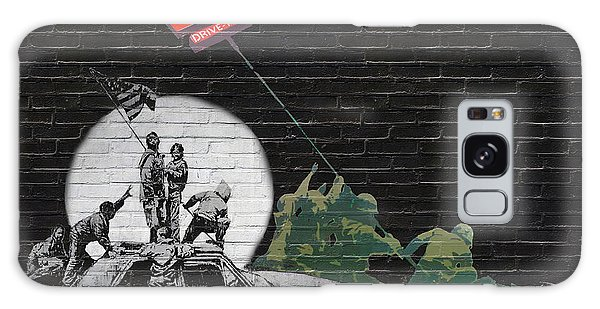 Pop Art Galaxy Case - Banksy - The Tribute - New World Order by Serge Averbukh
