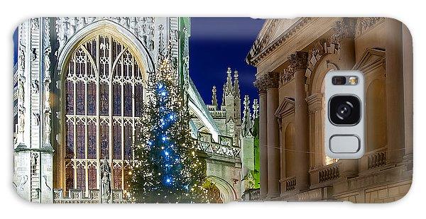 Bath Abbey At Night At Christmas Galaxy Case