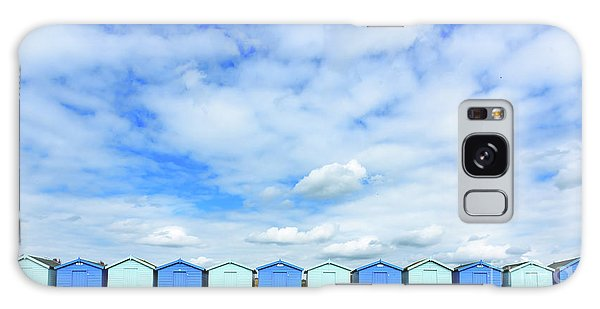 Beach Huts Galaxy Case