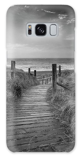 Breaking Dawn Galaxy Case - Beautiful Black And White Sunrise Landscape Image Of Sand Dunes  by Matthew Gibson