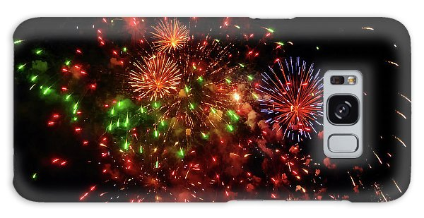 Beautiful Fireworks Against The Black Sky Of The New Year Galaxy Case