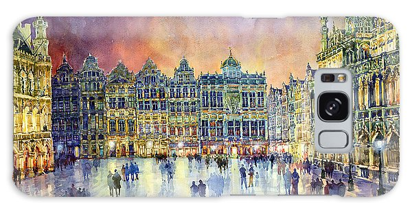 Cityscape Galaxy Case - Belgium Brussel Grand Place Grote Markt by Yuriy Shevchuk