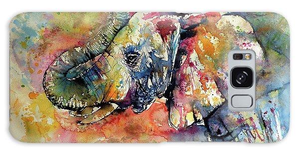 Wild Animals Galaxy Case - Big Colorful Elephant by Kovacs Anna Brigitta