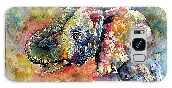 Animal Galaxy Case - Big Colorful Elephant by Kovacs Anna Brigitta