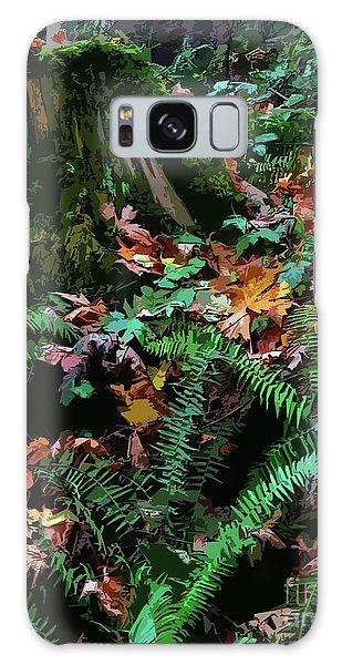 Big Leaf Maple Leaves Galaxy Case by Anne Havard