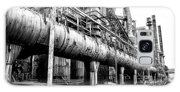 Black And White - Bethlehem Steel Mill Galaxy Case by Bill Cannon