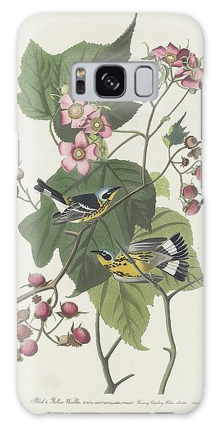 Black And Yellow Warbler Galaxy Case by Rob Dreyer