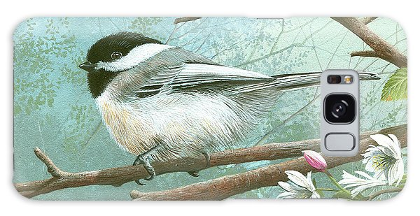 Black Cap Chickadee Galaxy Case
