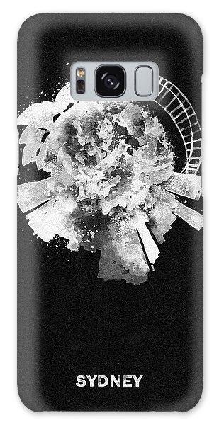 Sydney Skyline Galaxy Case - Black Skyround Art Of Sydney, Australia by Inspirowl Design