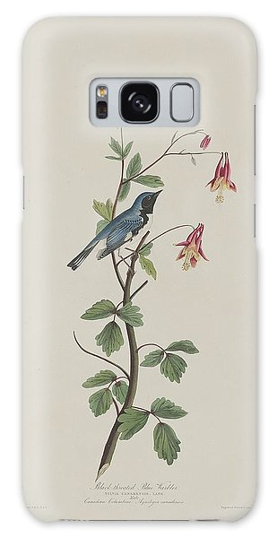 Black-throated Blue Warbler Galaxy Case by Rob Dreyer