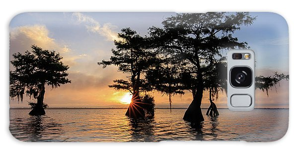 Blue Cypress Lake Morning Galaxy Case