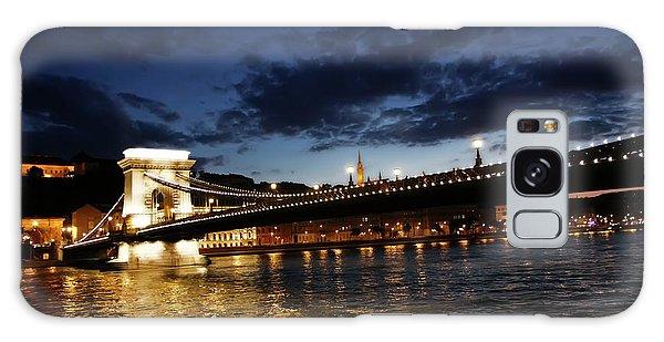 Blue Danube Sunset Budapest Galaxy Case