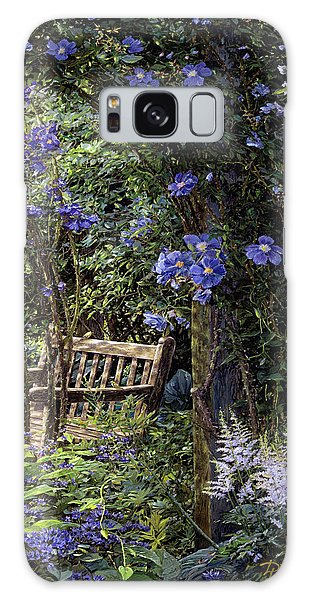 Blue Garden Respite Galaxy Case