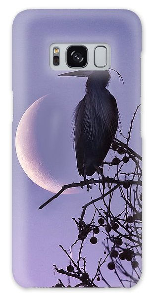 Blue Heron Moon Galaxy Case