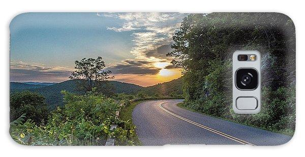 Blue Ridge Parkway Morning Sun Galaxy Case