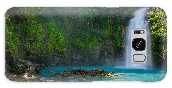 Blue Waterfall Galaxy Case