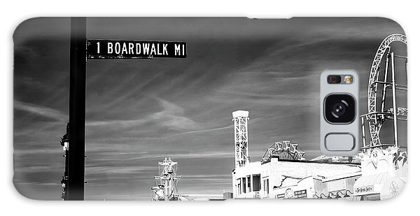 1 Boardwalk Mile Galaxy Case by John Rizzuto
