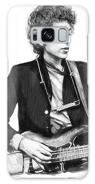 Bob Dylan Drawing Art Poster Galaxy Case by Kim Wang