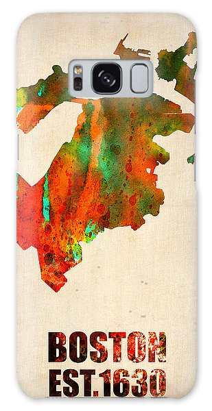 Boston Watercolor Map  Galaxy Case