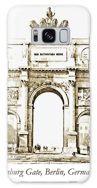 Brandenburg Gate, Berlin Germany, 1903, Vintage Image Galaxy Case