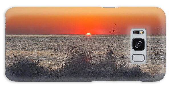 Breaking Wave At Sunrise Galaxy Case by Allan Levin