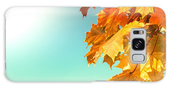Yellow Autumn White Sun Galaxy Case