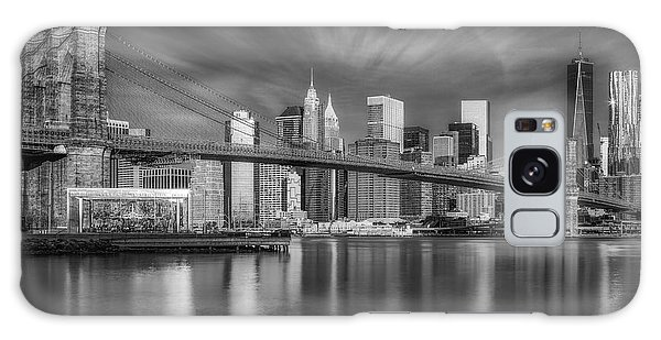Galaxy Case featuring the photograph Brooklyn Bridge From Dumbo by Susan Candelario