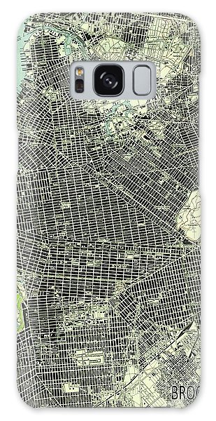 New Trend Galaxy Case - Brooklyn New York 1947 Old Map by Drawspots Illustrations