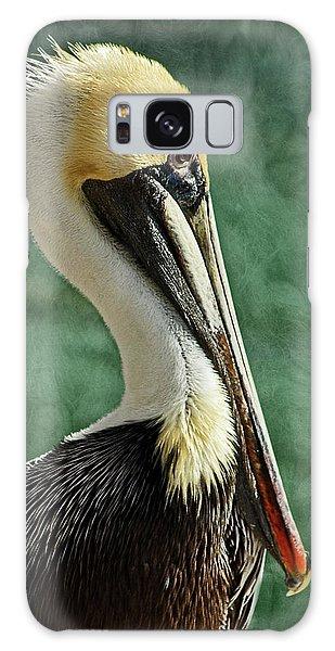 Brown Pelican Portrait Galaxy Case