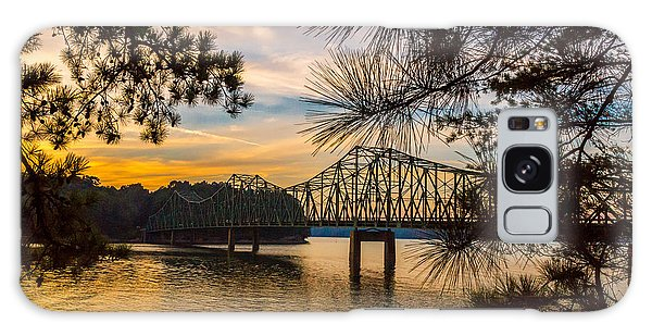 Galaxy Case featuring the photograph Browns Bridge Sunset by Michael Sussman