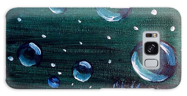 Galaxy Case featuring the painting Bubble Fish Underwater by Janelle Dey
