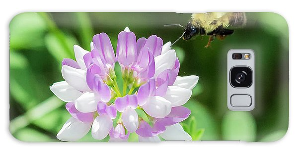Bumble Bee Pollinating A Flower Galaxy Case