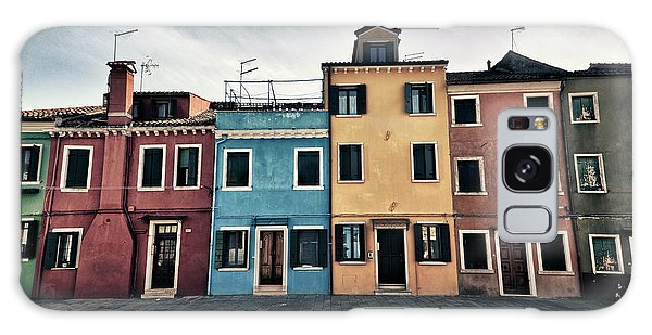 Burano Houses Galaxy Case