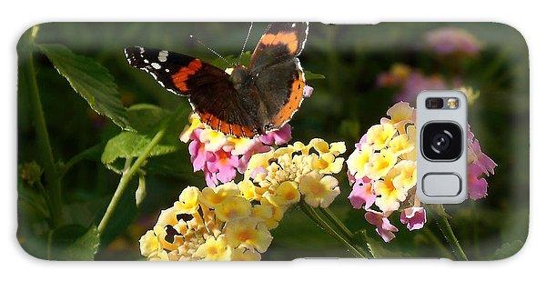 Busy Butterfly Side 2 Galaxy Case by Felipe Adan Lerma