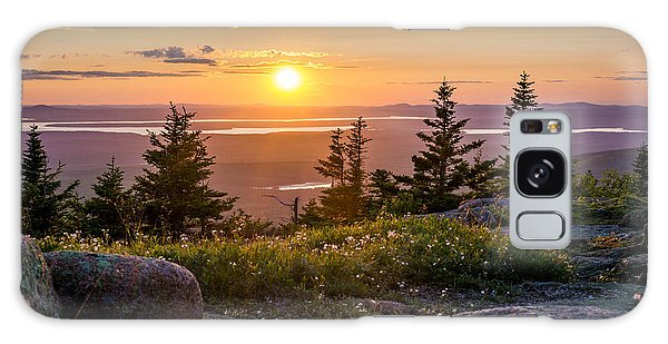 Cadillac Mountain Sunset  Galaxy Case by Trace Kittrell