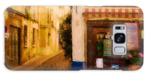 Cafe On The Rue Des Ursins Galaxy Case
