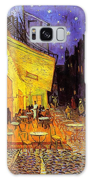 Galaxy Case featuring the painting Cafe Terrace At Night by Van Gogh