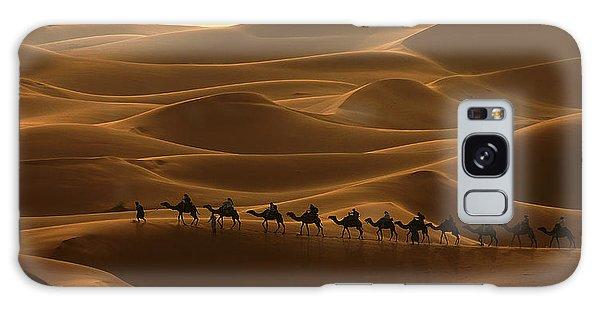 Camel Caravan In The Erg Chebbi Southern Morocco Galaxy Case by Ralph A  Ledergerber-Photography