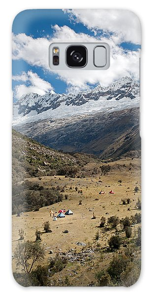 Camping In Huaripampa Valley Galaxy Case