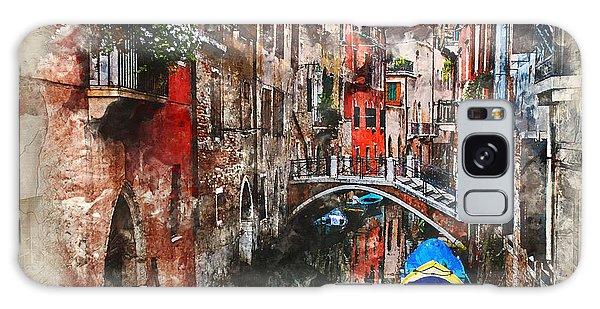 Canal In Venice Galaxy Case