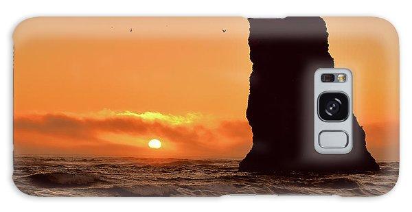 Cannon Beach Sunset Galaxy Case by Scott Cameron
