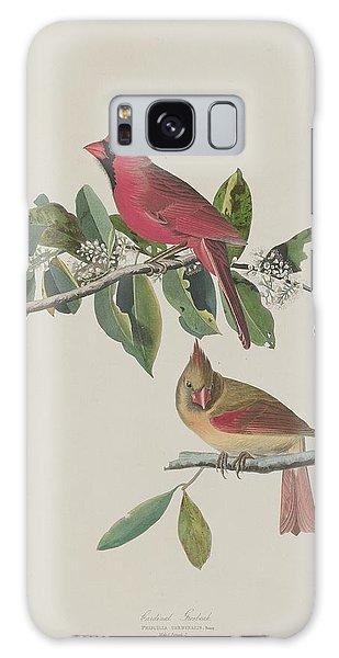 Engraving Galaxy Case - Cardinal Grosbeak by Dreyer Wildlife Print Collections