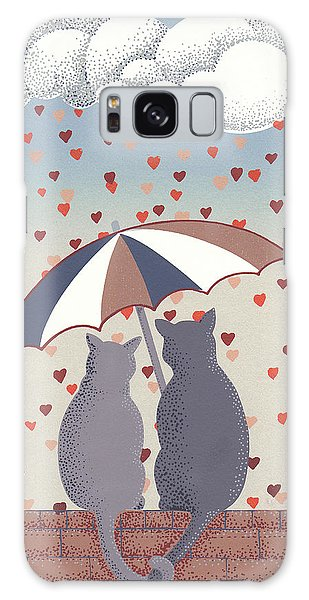 Cats In Love Galaxy Case