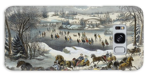 Central America Galaxy Case - Central Park In Winter by Currier and Ives