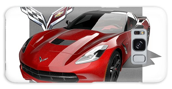 Automotive Galaxy Case - Chevrolet Corvette  C 7  Stingray With 3 D Badge  by Serge Averbukh