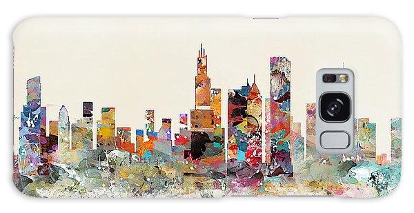 Chicago City Skyline Galaxy Case by Bri B