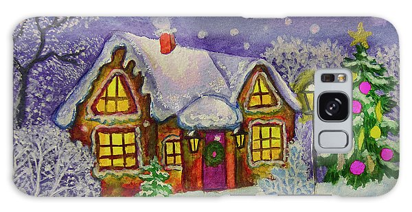 Christmas House, Painting Galaxy Case